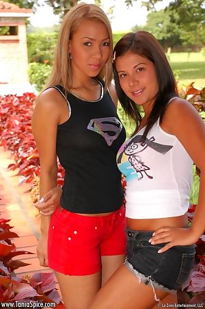 Nasty love making act games of twofold outstanding fresh lesbian hotties