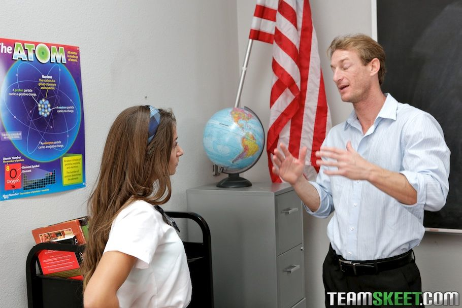 Brown hair young Cassidy Klein receives tempted in a schoolgirl uniform