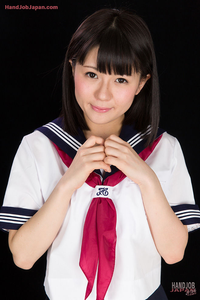 Japanese chicito in sailor uniform jerks a wang pending it blows its load of spunk