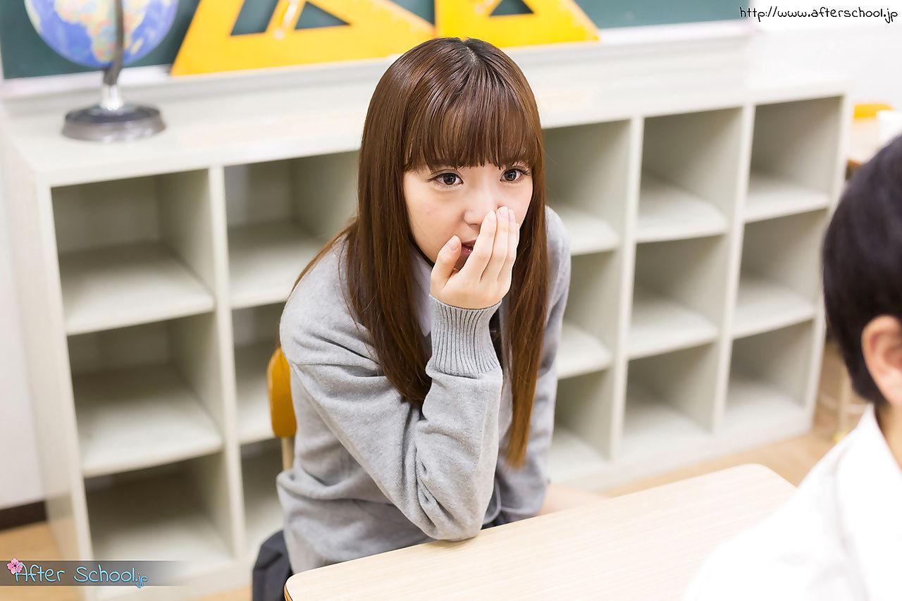 Diminutive Japanese schoolgirl caught stroking in sort sucks teachers penis