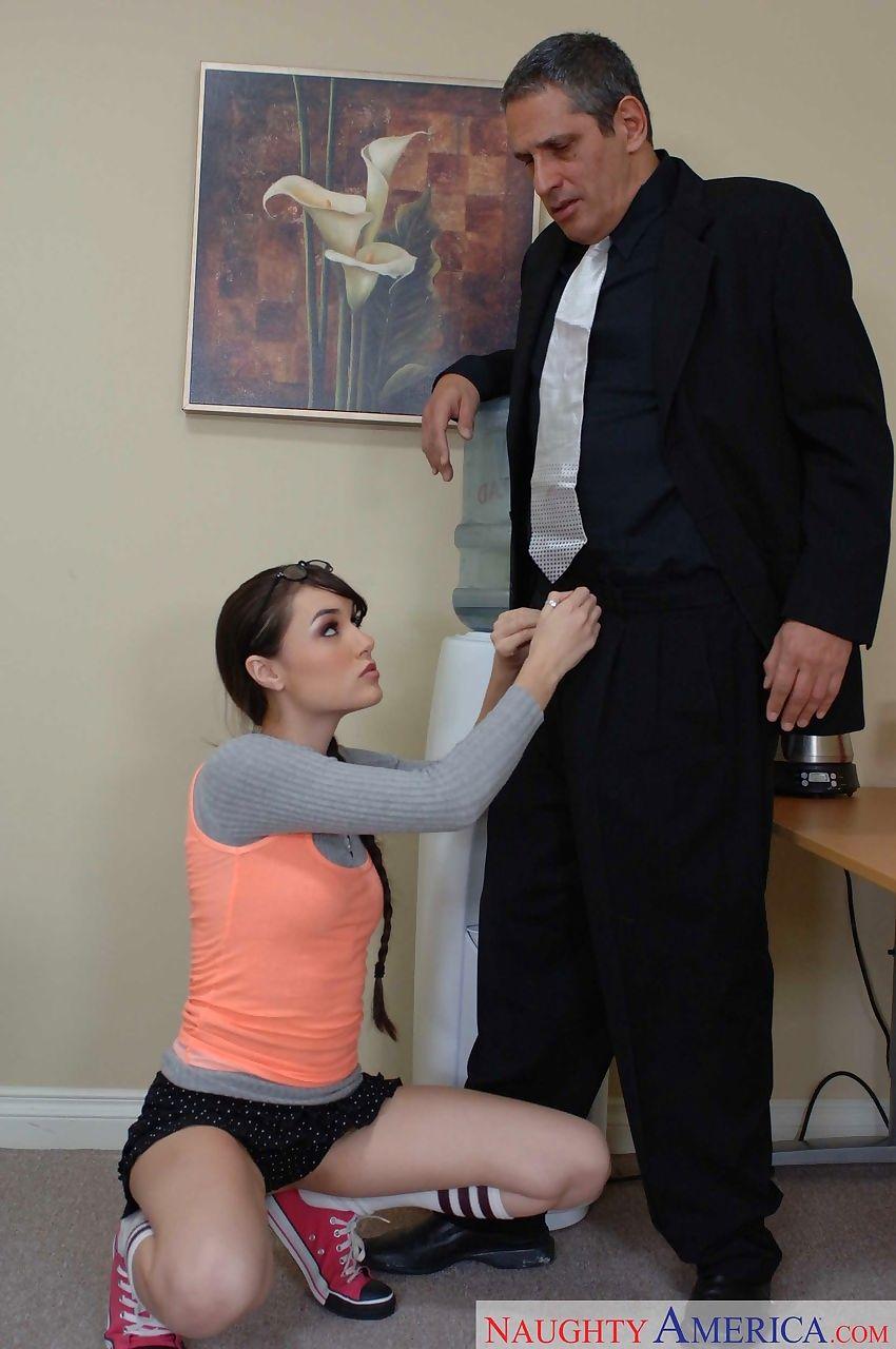 Schoolgirl Sasha Grey drills her daddy subsequently getting caught smokin\'