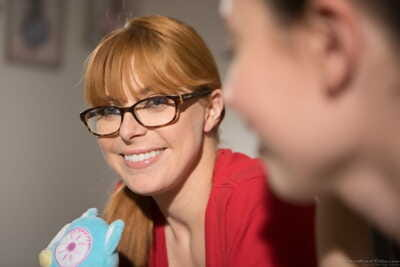 Top redhead Penny Pax eating Casey Calverts tasty rectal hole and cum-hole
