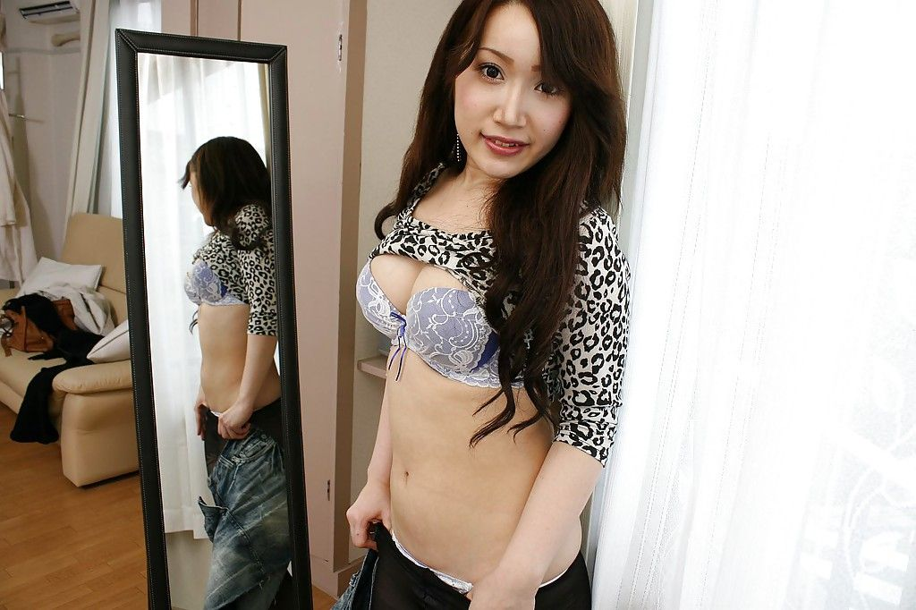 Undressing asian girl