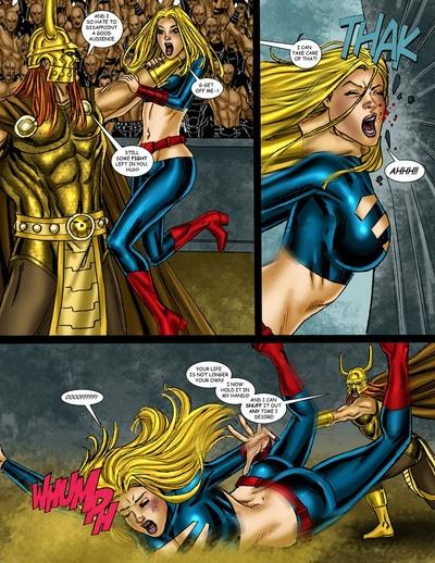 9 Superheroines VS Warlord 3