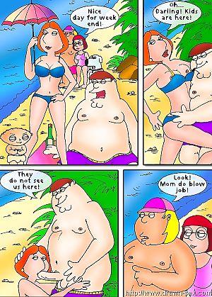Family Guy – Beach Play,Drawn Sex
