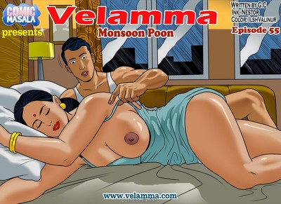 Velamma 55- Monsoon Poon