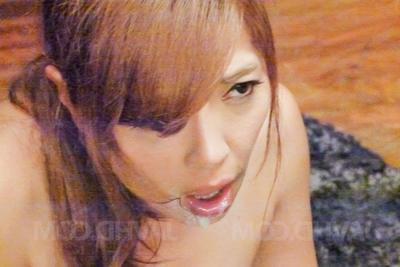 Chieri Matsunaga licks slobber and flannel till gets cum on mouth