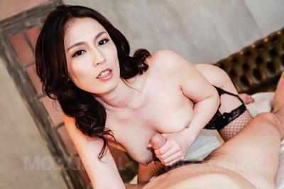 Sera Ichijo Asian sucks cock with an increment of jumps on rosiness shaking fat in back of surreptitiously