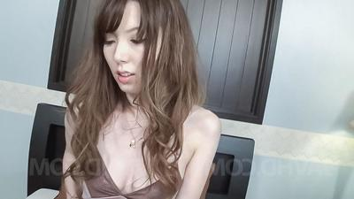 Yui Hatano Asian gets vibrator encircling muted crack and sucks shlong
