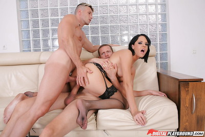 Admirable groupsex act with sexually aroused as fuck anal-addicted gal Aliz