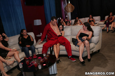 Get-together time with bare gentleman strippers entertaining wholly dressed hotties