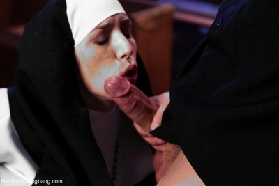 Glamorous nun group-bonked by 5 priests in chapel