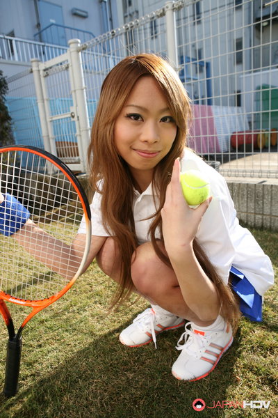 Remika Uehara standing for the webcam