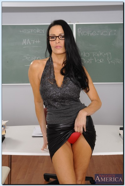 Kicky advisor Normal DeVille uncovering her breathtaking body in the classroom