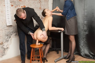 Bigtitted secretary passing the sex tool tests