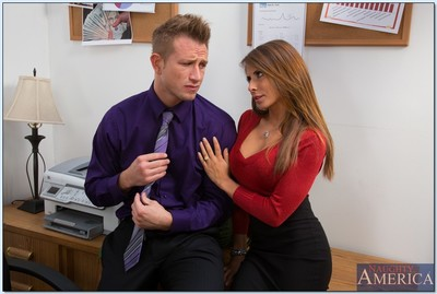 Breasty doxy Madison Ivy accepts bonked and facialized by her office colleague
