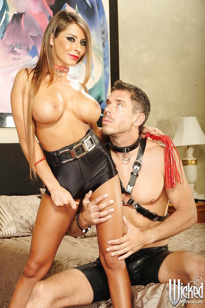 Kink vixen Madison Ivy purchases owned and jizzed over her enormous bra buddies