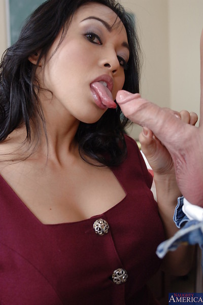 Milf tutor Mika Tan is giving a valuable fucking action lesson to her student