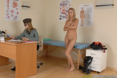 Angel accepts exams her snatch in doctors office