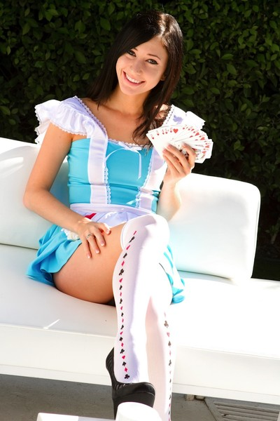 Catie minx in cosplay as a dirty adult baby alice in wonderland