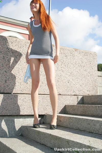 Lively honey enjoys cute day and livecam shooting her upskirt