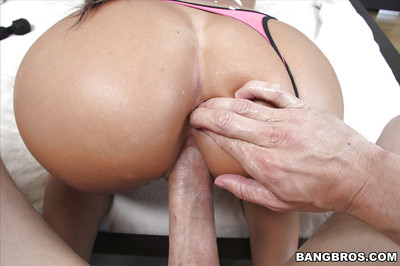 Gorgeous wife August Ames shows off giant butt and hairless snatch
