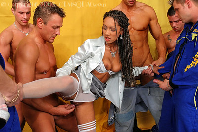 Lusty floozy purchases her face and love bubbles glazed with dick water later covered orgy
