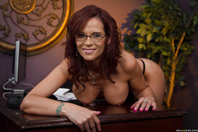 Boobsy office lady Syren De Mer gains rid of her formal costume and sexy pants