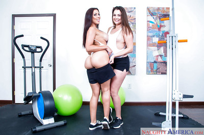 Latina chicito lesbos Allie Haze and Rachel Starr revealing clever MILF anuses