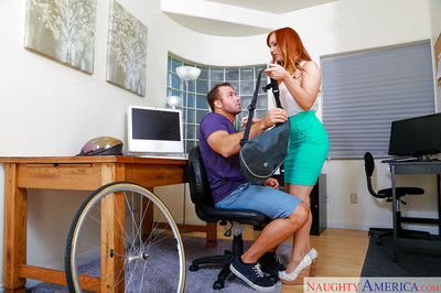 Redheaded office worker Dani Jensen giving CFNM bj sooner than hardcore astonishingly