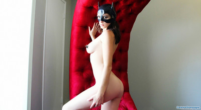 Consummate brunette hair carlotta in her untamed catwoman clothing