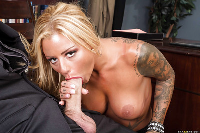 Britney Shannon swallows the largest  with smile on her glamorous face