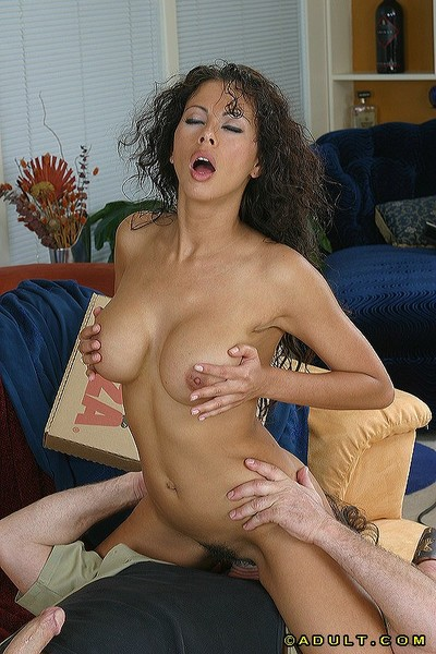 Bushy Latin hottie with enormous mounds Olivia benefits from boffed by fellow in a cap