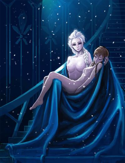 Frozen elsa anna without clothes porn