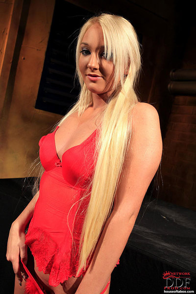 Golden-haired dear purchases her vagina clamped and her butt dug in Bondage deed
