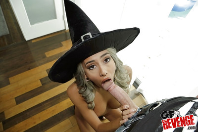Golden-haired gf in cosplay outfit exquisite hardcore pounding of trimmed slit