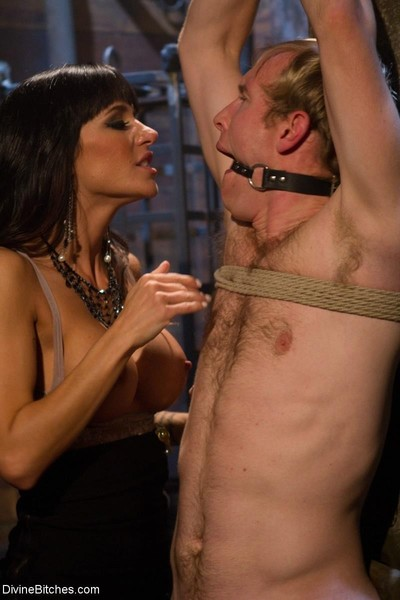 Fascinating female-dominator locks slaveboy up in an variety of enforced chastity devices and bawdy