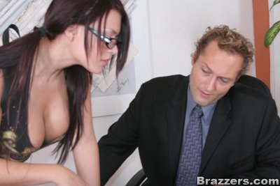 Lalin girl schoolgirl in glasses Eva Angelina got her marvelous gentile drilled