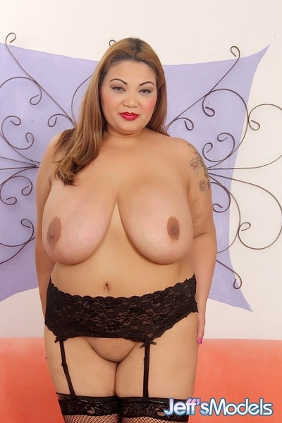 Mammoth boobed oriental plumper shows off her scrumptious changes direction sooner than ma
