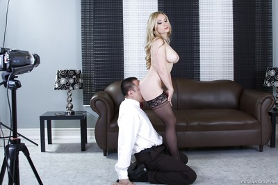 Dirty MILF in nylons Aiden Starr purchases her love holes licked