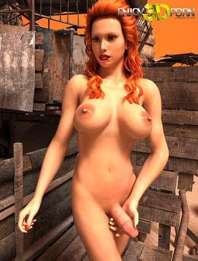Without clothes redhead tgirl with weighty marangos and thick dick