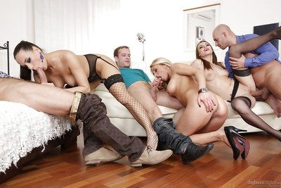 Naughty swapper fucking action with Mea Melone, Victoria Daniels and Laura Crystal