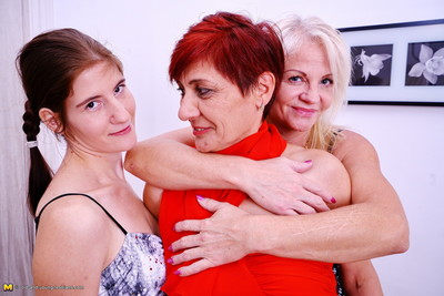 3 old and infant lesbian babes make out
