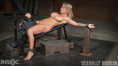 Tied on her backwards with her oiled flesh gleaming and these weighty bazookas pointed tow