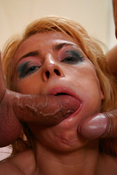 Allyson Moore enjoys two fucking one and purchases her face glazed with sex cream