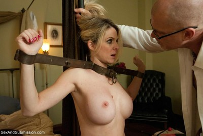 Milf female house slave acquires fixed up, punished and rough dug