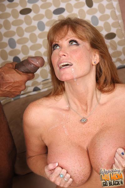 Cougar drills swarthy ramrod whilst her son watches