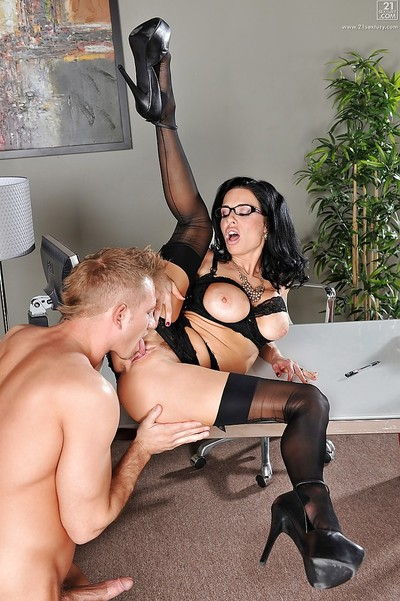 Marvelous hooker Veronica Avluv swallows and screws weighty cum-stick