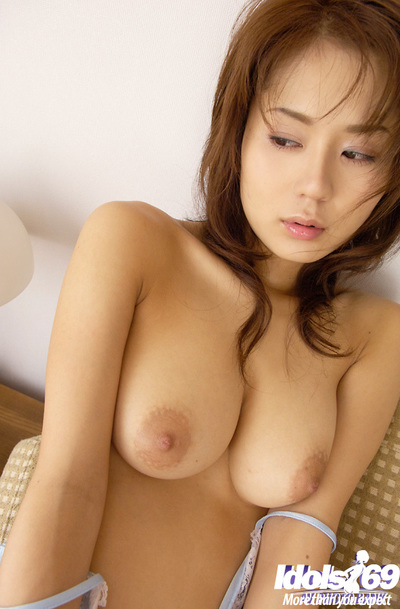 Untamed Chinese coed Takane Hirayama showcasing her colossal bosoms and wavy cage of love