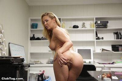 Spectacular milf cherie deville tugging weighty raw ramrod